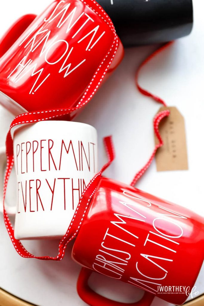How to make DIY Rae Dunn mugs with Cricut