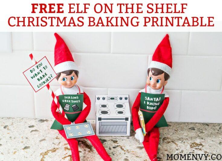 Elf on the Shelf: Baking Christmas Cookies
