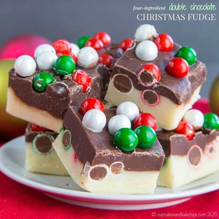 Four-Ingredient Double Chocolate Christmas Fudge