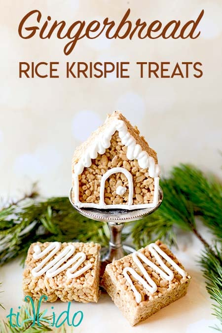 Easy and Delicious Gingerbread Rice Krispie Treats Recipe