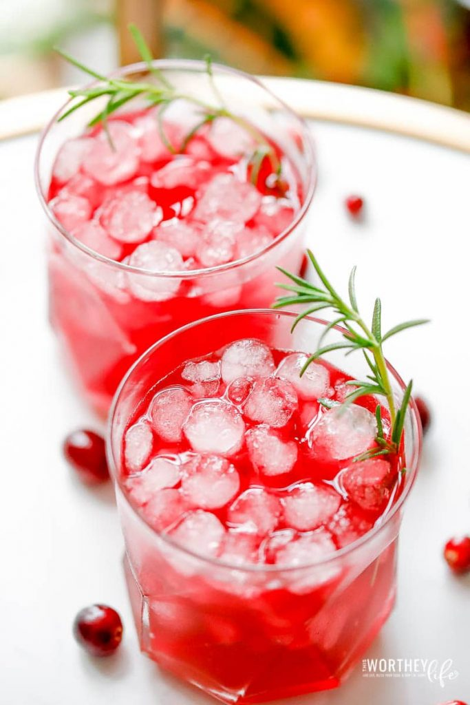 Festive colored non-alcoholic drinks