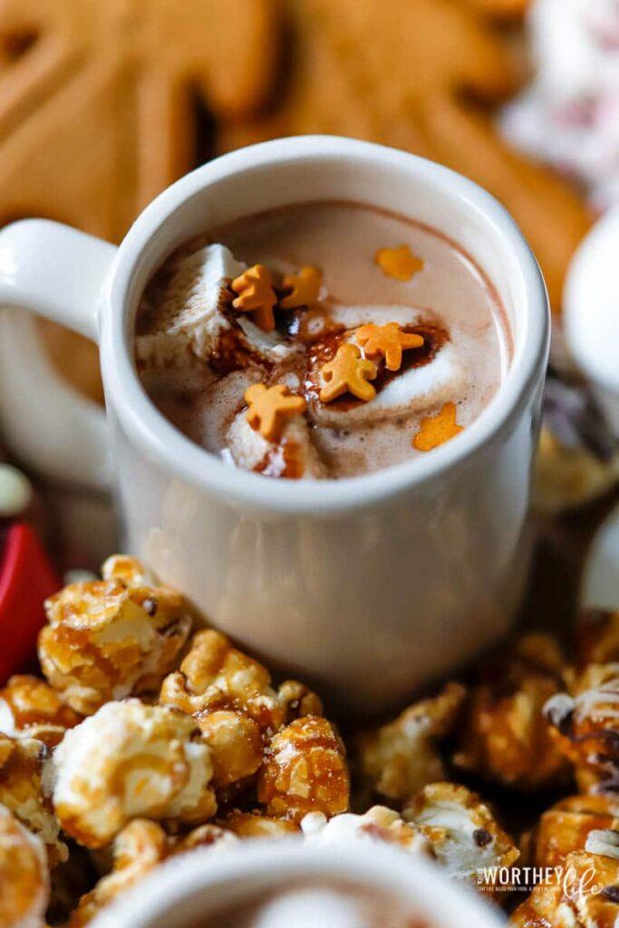 Easy hot chocolate bar idea