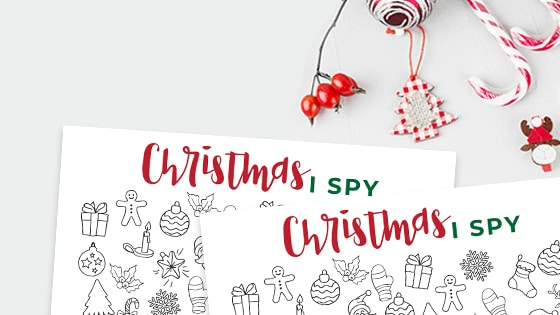 I-Spy Christmas free Printable