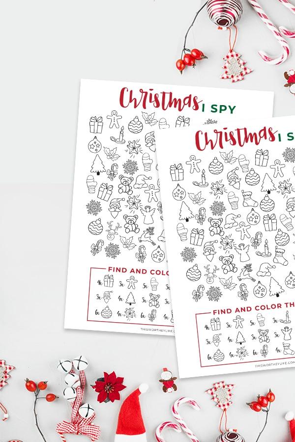 Can I Print an I-Spy Christmas Printable on Cardstock?