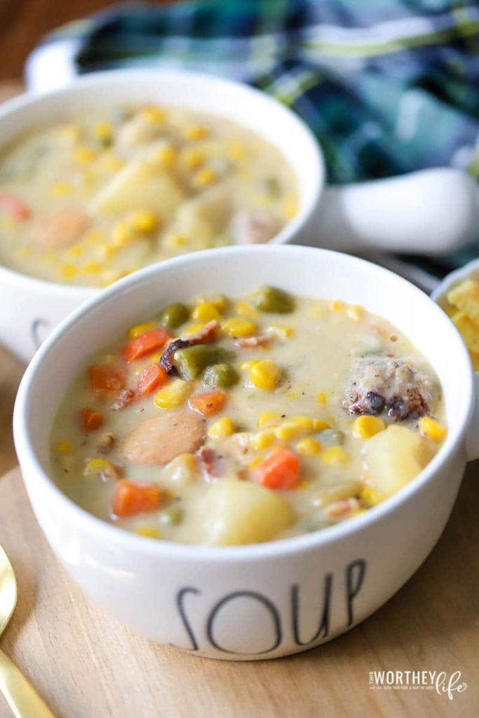 Instant Pot Vegetable Chowder Recipe