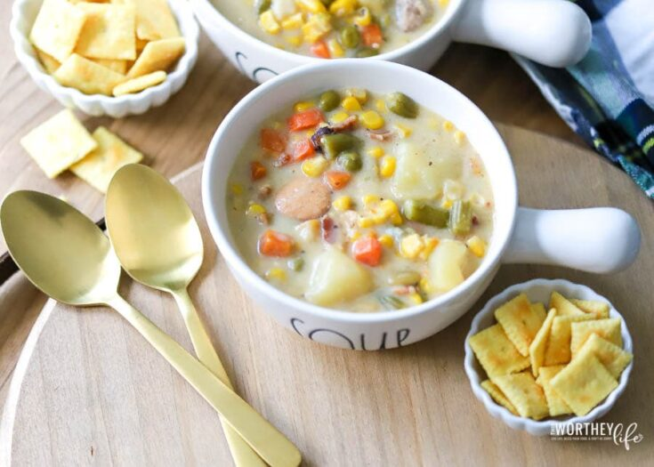 Instant Pot Vegetable + Sausage Chowder- Gluten-Free Recipe