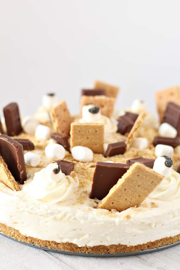 The Best No Bake S'mores Cheesecake