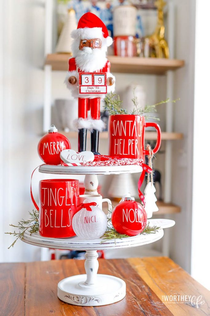 39 Rae Dunn Christmas Tiered Tray Ideas