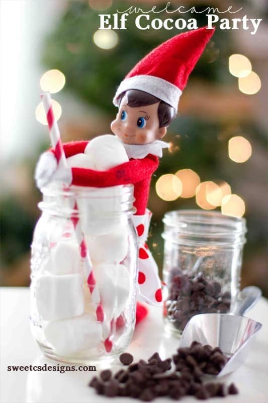 Welcome Elf on a Shelf: Cocoa Party