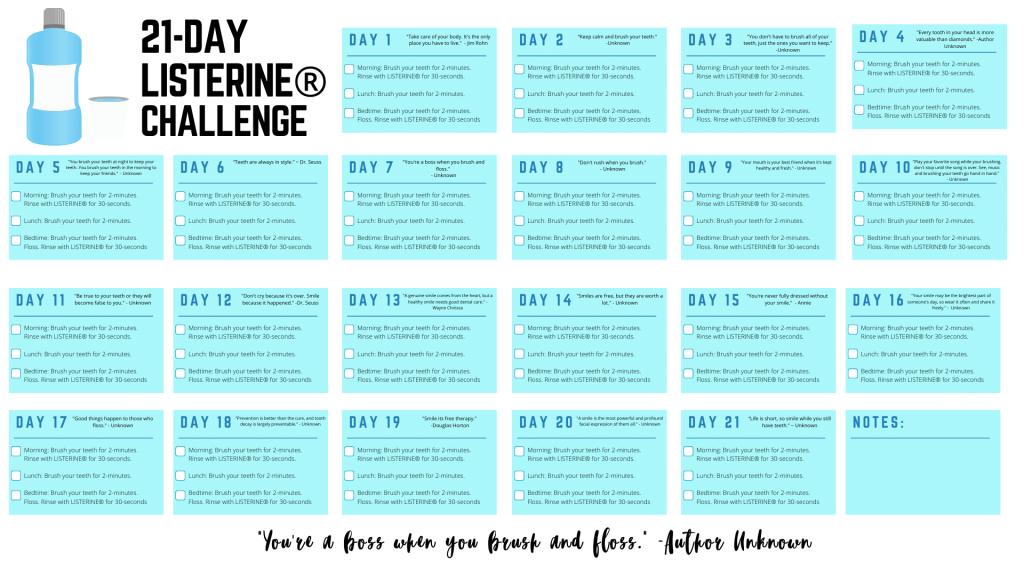 21 Day Challenge free printable