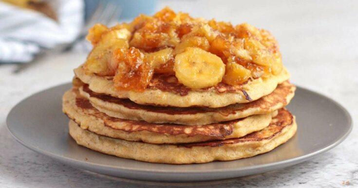 3 Ingredients Banana Pancakes (Sugar-Free)