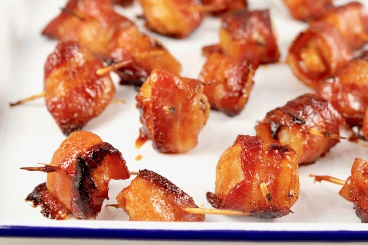 Bacon Wrapped Water Chestnuts {3 Ingredients}