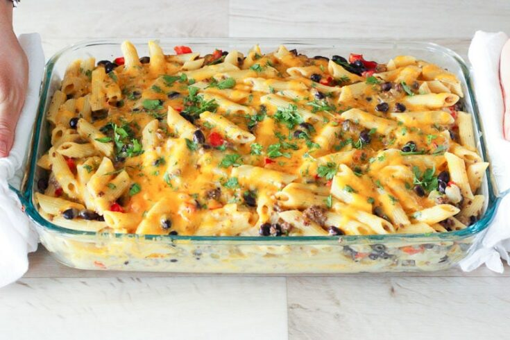 Chile Con Queso Pasta Bake