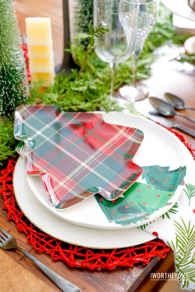 Christmas Tree Table Setting