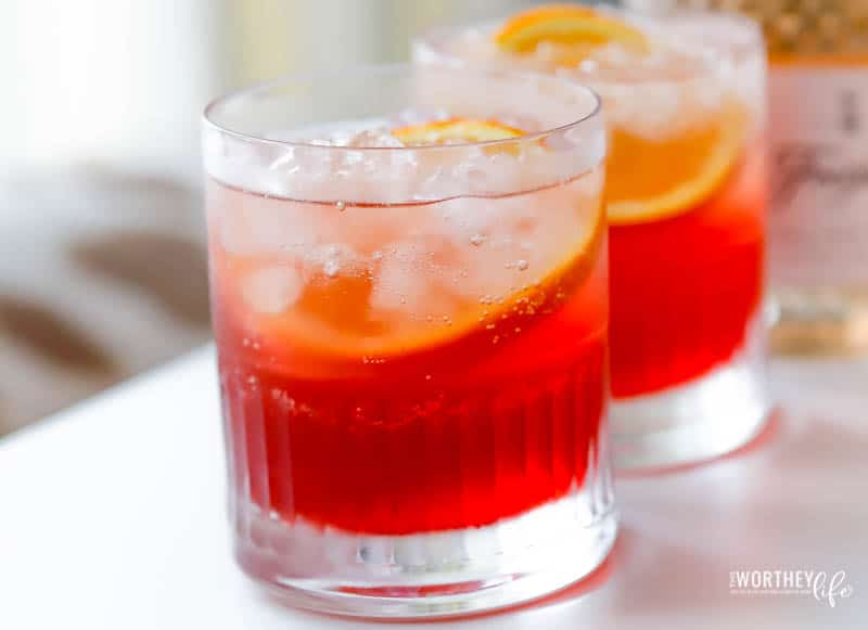 Sparkling Bourbon Cocktail Recipe