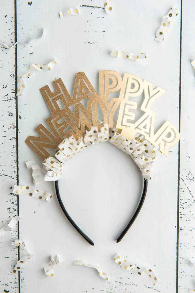 DIY Happy New Year Headband Made With A Cricut