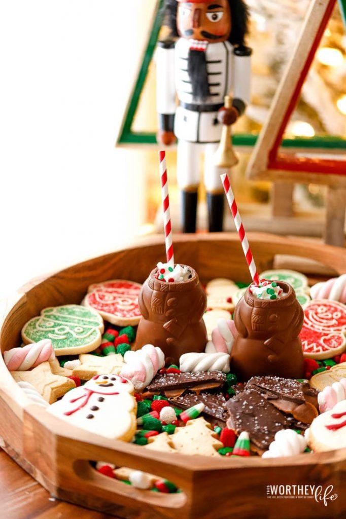 How To Make Chocolate Snowman Shots