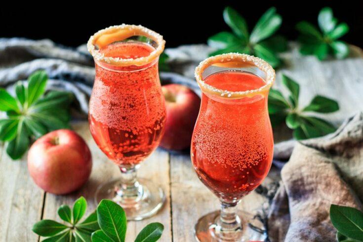 Sparkling Apple Cider Mocktail