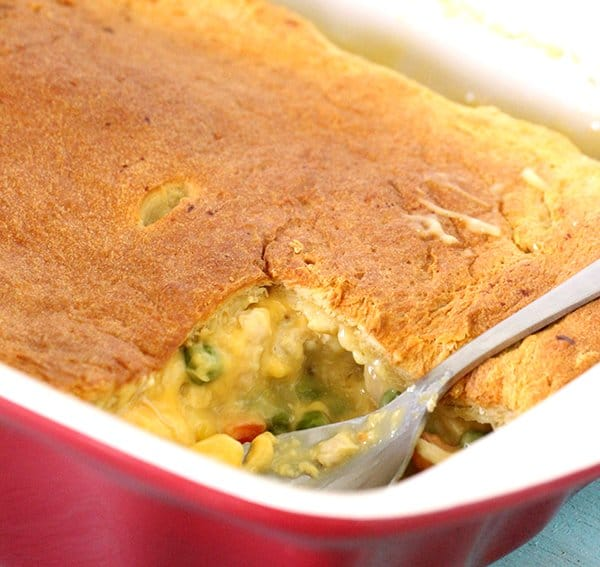 Make Cheesy Chicken Pot Pie with Only 5 Ingredients
