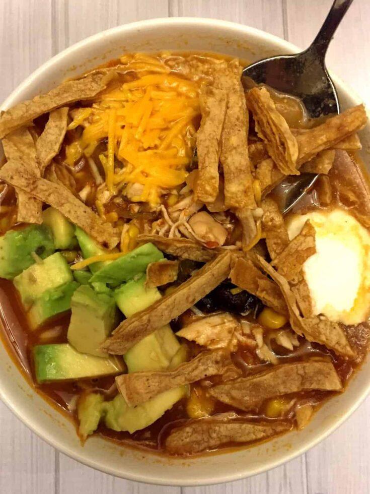 Easy Mexican Chicken Tortilla Soup Crock-Pot