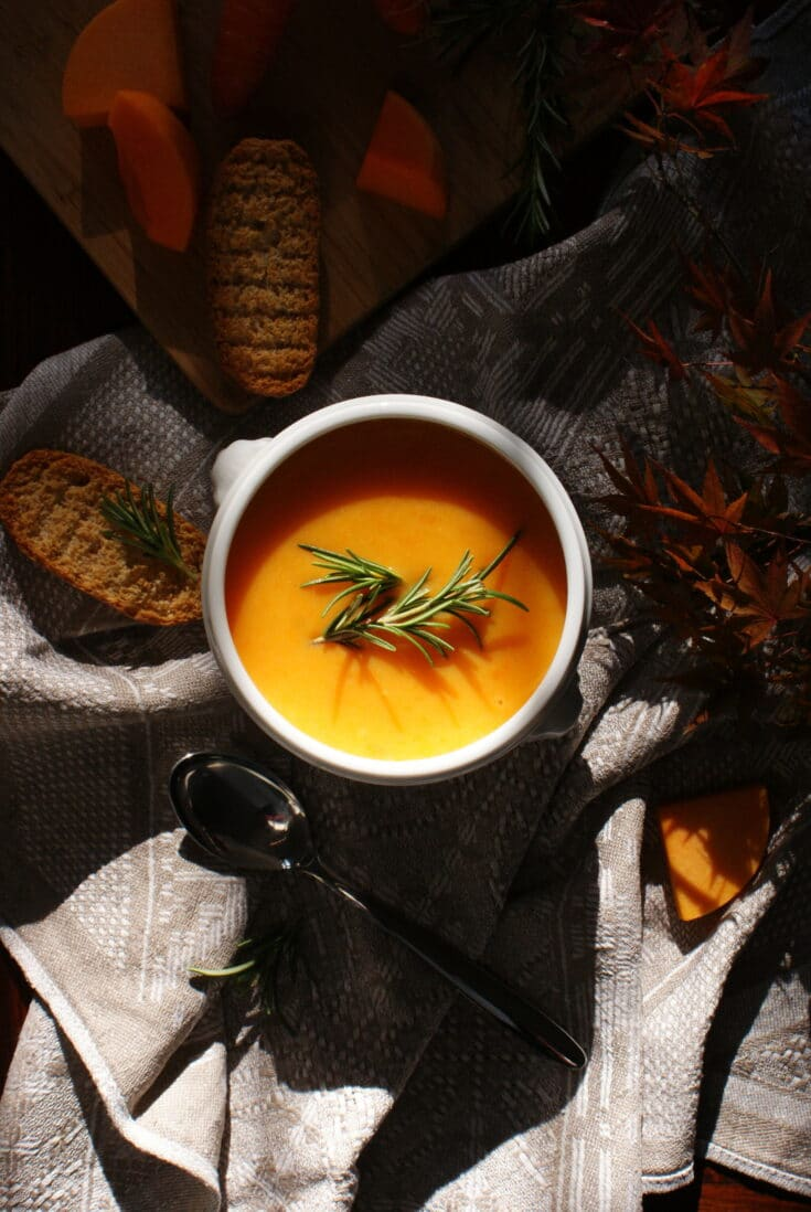 HOMEMADE PUMPKIN, POTATO AND CARROT SOUP RECIPE
