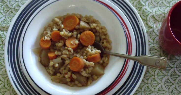 Slow Cooker Vegan Barley Stew Recipe