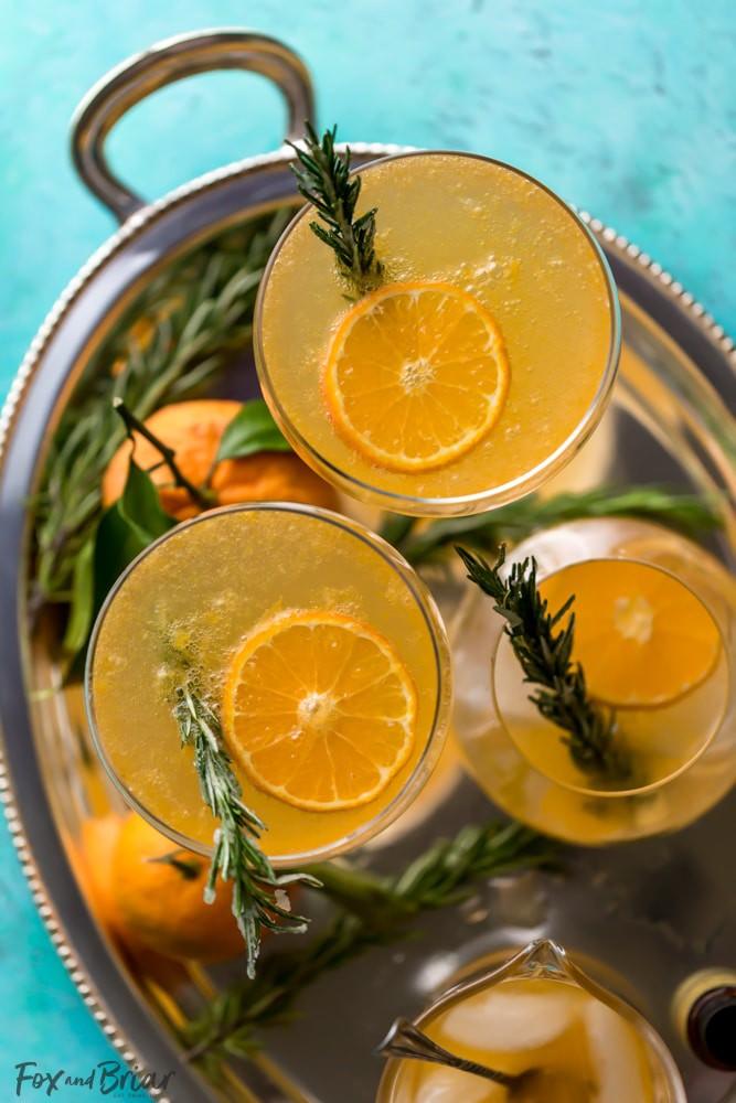 Rosemary Clementine Sparkler Mocktail