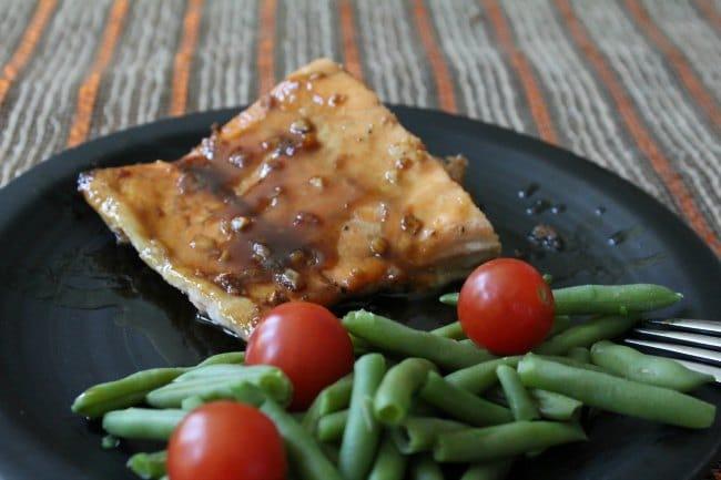 Baked Salmon with Maple Glaze