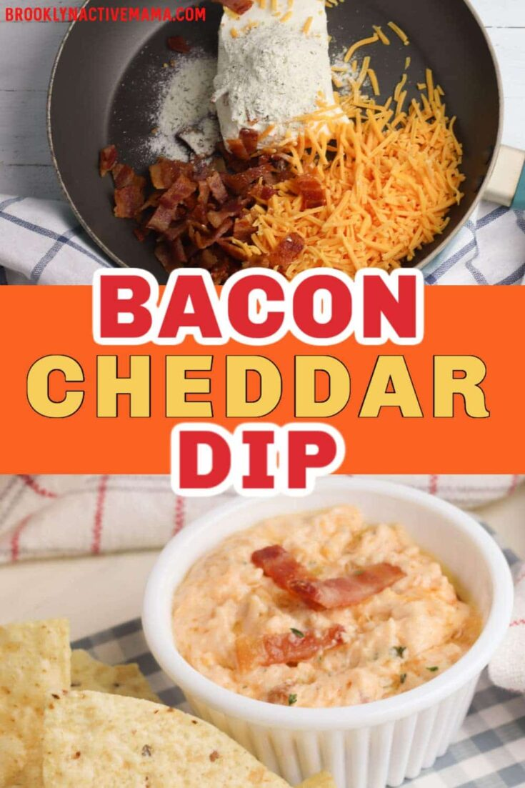 Super Easy Game Day Bacon Cheddar Dip