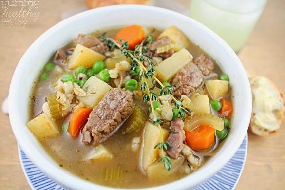 The Best Ever Slow Cooker Vegetable Beef Barley Soup