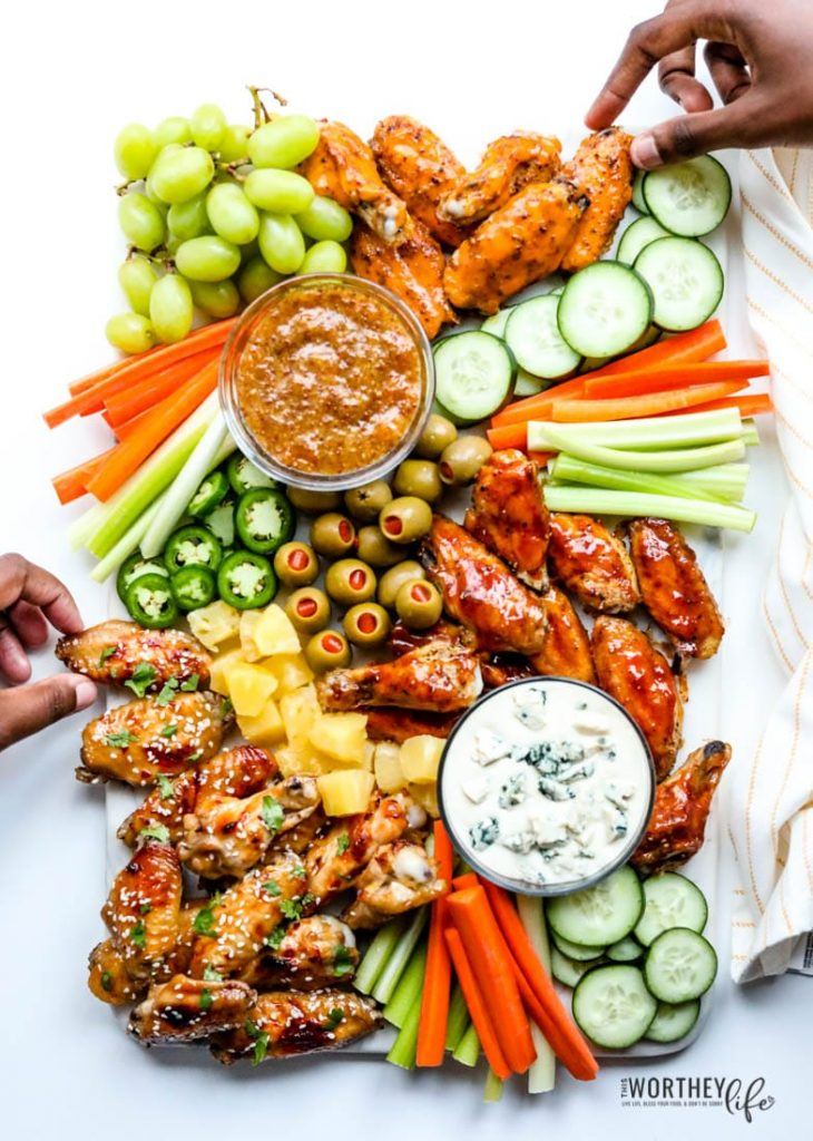 Game Day Grazing Board with Chicken Wings