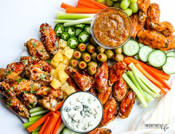 Game Day Chicken Wings Grazing Board