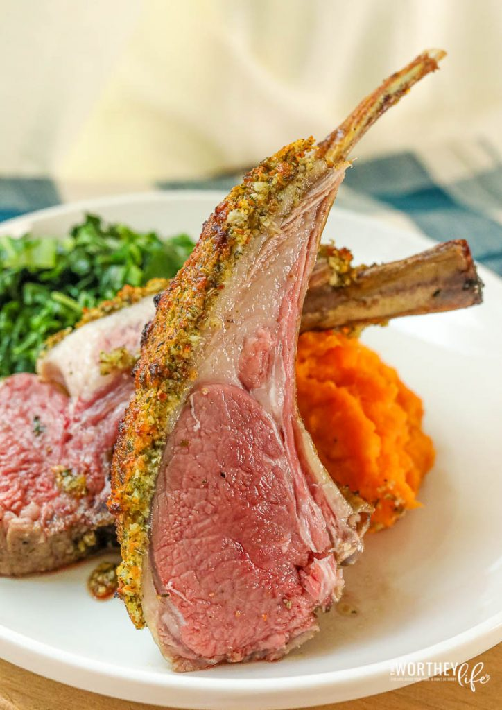 What pairs well with a rack of lamb