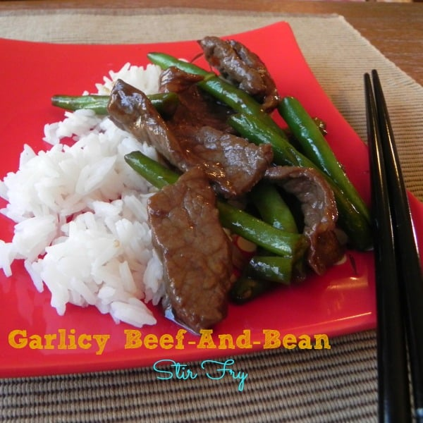 Garlicky Beef and Bean Stir Fry, an easy $5.00 Dinner