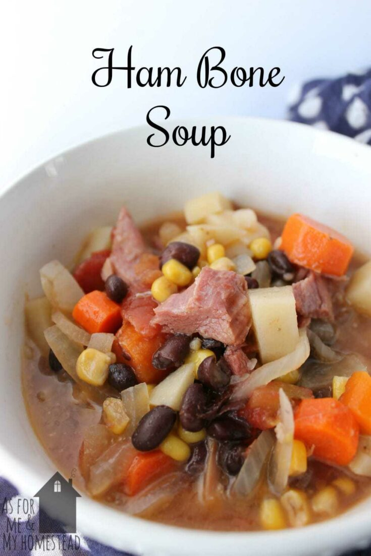 Leftover Ham Bone Soup in the Slow Cooker