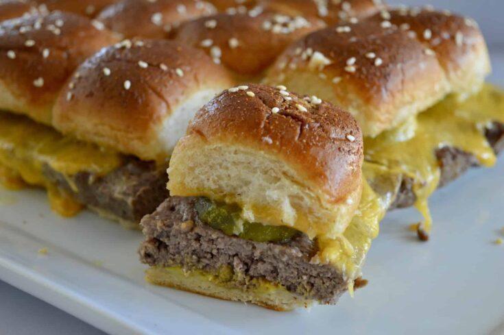 Easy Baked Cheeseburger Sliders