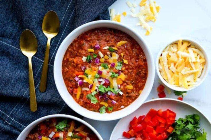 Instant Pot Loaded Chili Recipe
