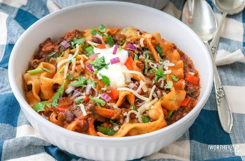 Easy Instant Pot recipe using lasagna noodles
