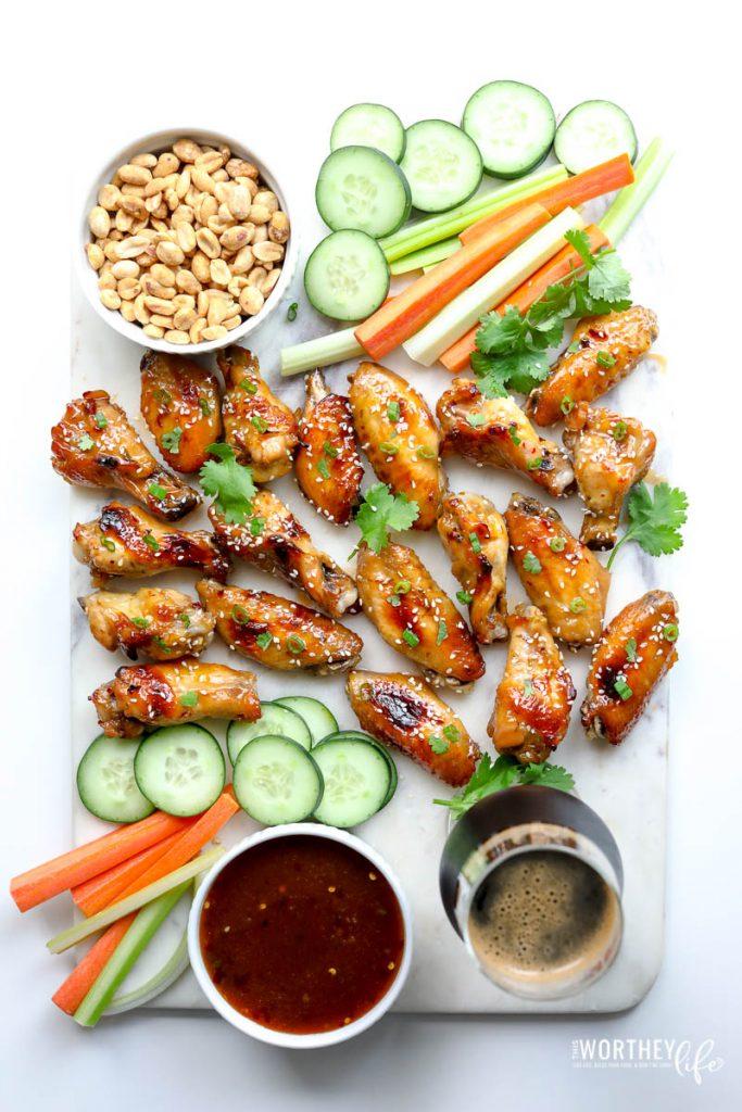 Thai Chicken Wings Platter