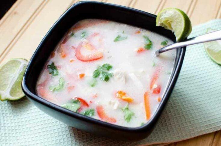 Slow Cooker Crock Pot Thai Coconut Soup