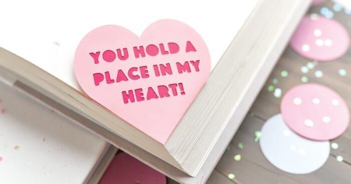 Valentine's Day Heart Bookmark