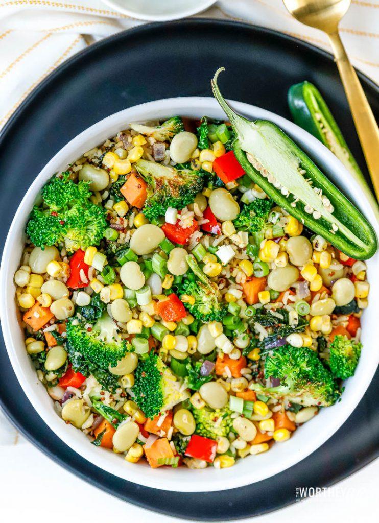 Vegetarian Succotash Stir-Fry recipe