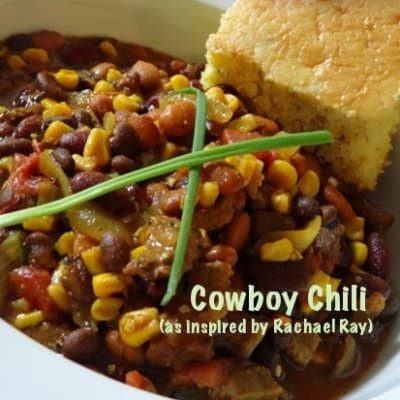 Rachel Ray Cowboy Chili (Our Answer for a 30-Minute Yummy Meal...