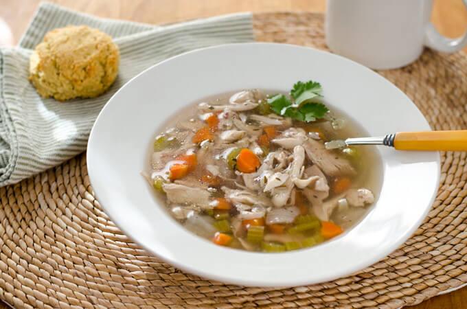 Crock Pot Chicken Soup (Paleo, Keto, Whole30)