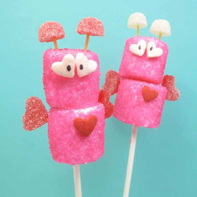marshmallow love bugs for Valentine's Day