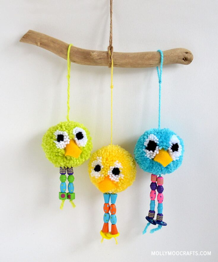 How to make - Pom Pom Bird Craft