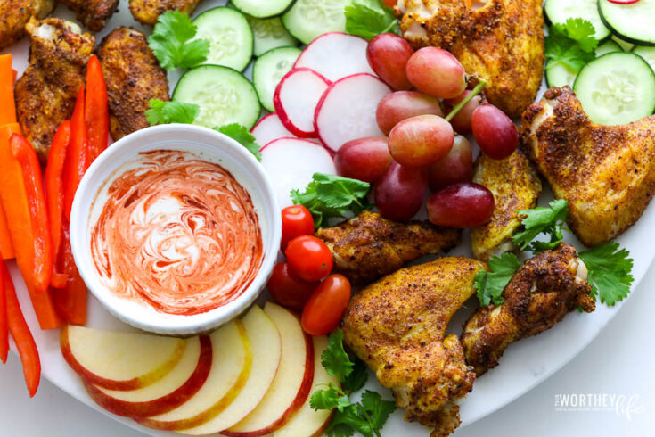 Air Fryer Indian Spiced Chicken Wings