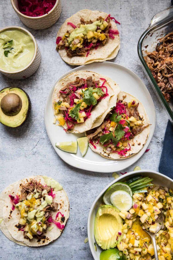 The BEST Pork Carnitas Tacos