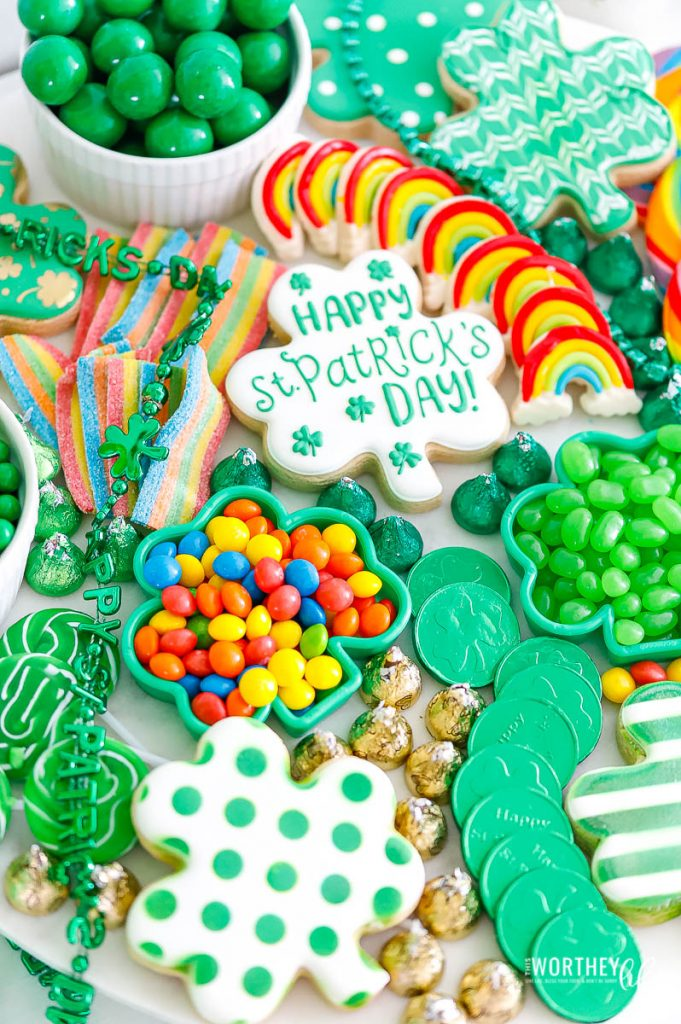 St. Patrick's Day candy board