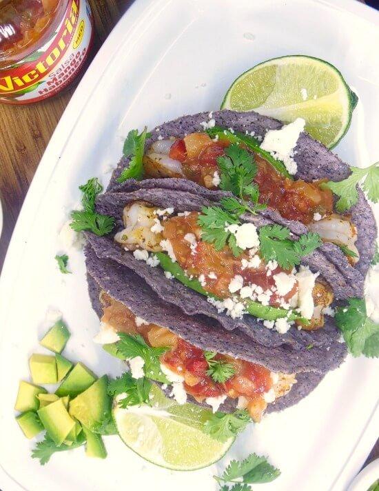 Sweet & Spicy Shrimp Tacos